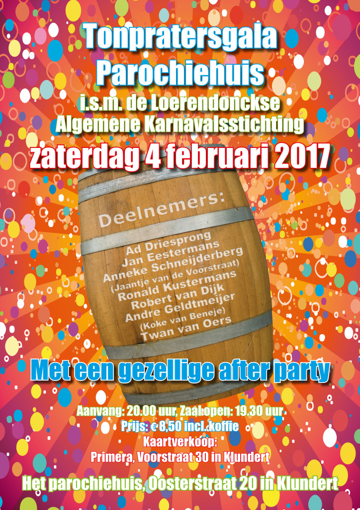 Tonpraters Gala 2017 – www.loerendonck.net Joetjoep